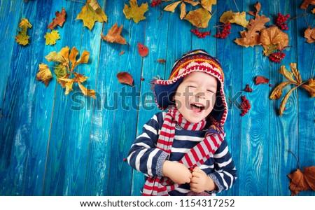 autumn child lies Stock photo © Paha_L