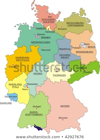 germany map with mecklenburg western pomerania stock photo © ustofre9