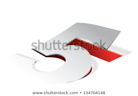 paper folding with number 5 in perspective view stock photo © archymeder