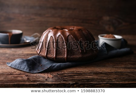 Chocolate frosted bundt cake Stock photo © MSPhotographic
