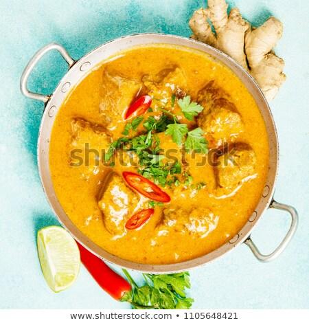 Strigliare piatto riso pollo pepe pasto Foto d'archivio © M-studio