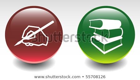 ストックフォト: 緑 · 図書 · アイコン · 実例 · 孤立した