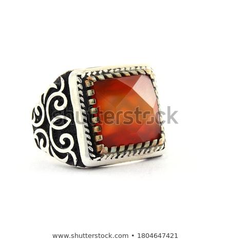 3d · render · piros · gyémántgyűrű · fehér · esküvő · háttér - stock fotó © brux