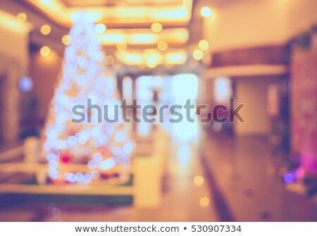 Stock photo: shopping center in christmas time