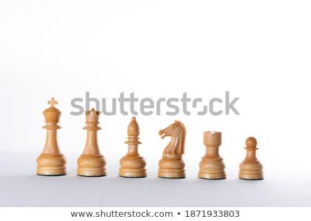 bianco · pedone · isolato · scacchi · giocare - foto d'archivio © cherezoff