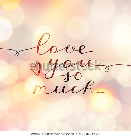 heart shaped i love you card stock photo © stevanovicigor
