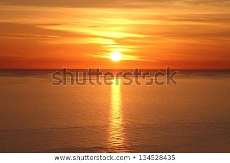 naplemente · tengerpart · gyönyörű · tenger · Görögország · természet - stock fotó © ankarb