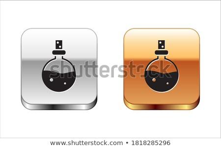 Flask Icon Gold Vector Icon Button Stock photo © rizwanali3d