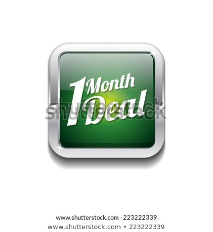 1 month deal green vector icon button stock photo © rizwanali3d