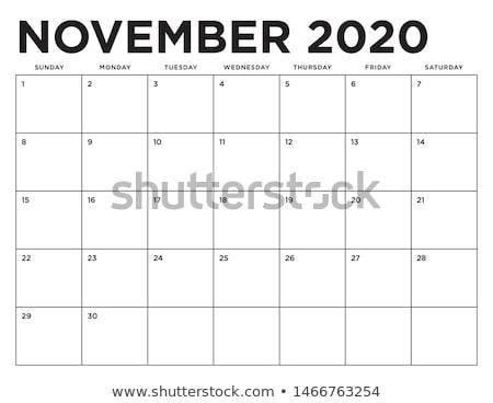 November Calendar Page Stock photo © stevanovicigor