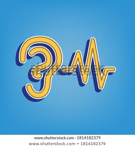 Radio sygnał złoty wektora przycisk ikona Zdjęcia stock © rizwanali3d