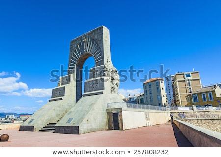 Marseille Franciaország egy kinyitott katona ív Stock fotó © meinzahn