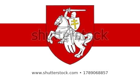 Jas armen Wit-Rusland geld paard Rood Stockfoto © netkov1