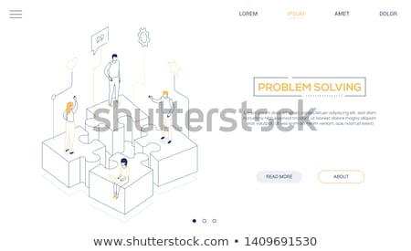 3d man team solving puzzle concept stock photo © nithin_abraham