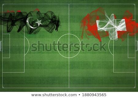 Suiza Libia banderas rompecabezas aislado blanco Foto stock © Istanbul2009