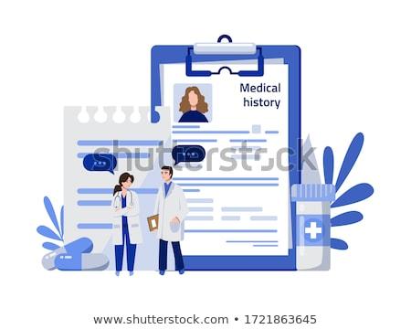 Medische geschiedenis diensten icon ontwerp geïsoleerd Stockfoto © WaD