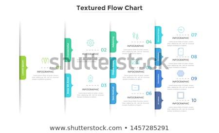 Fluxograma giz lousa diagrama Foto stock © Fotografiche