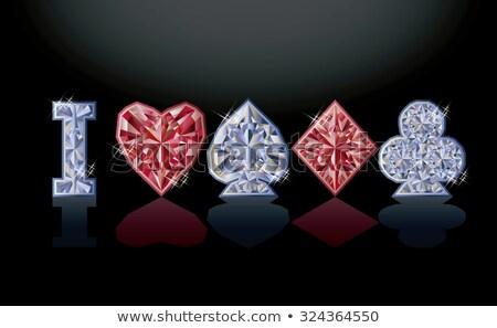 casino · uitnodiging · illustratie · lijn · web - stockfoto © carodi