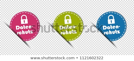 Protected Pink Vector Button Icon Stock photo © rizwanali3d