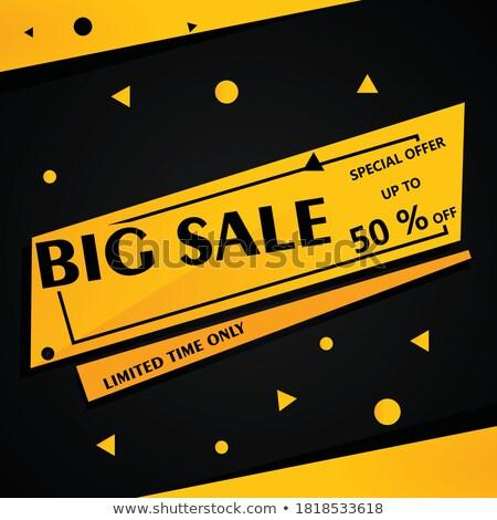 christmas deal yellow vector icon button stock photo © rizwanali3d