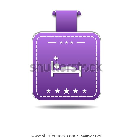 Heath Care Bed Violet Vector Icon Design Stock photo © rizwanali3d