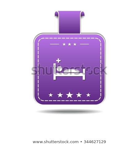 heath care bed violet vector icon design stock photo © rizwanali3d
