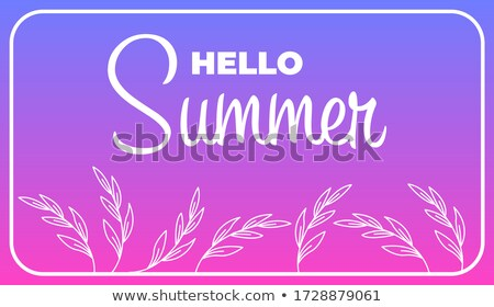summer sale and offer with palms and sun signs yellow drawn lab stock photo © marinini