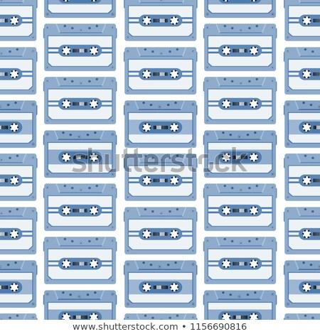 Sem costura vetor padrão vintage fita cassete Foto stock © adrian_n