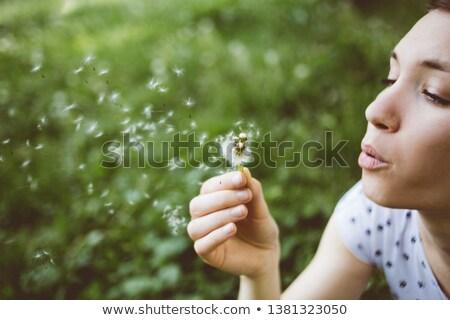 jeunes · paisible · fille · belle - photo stock © deandrobot