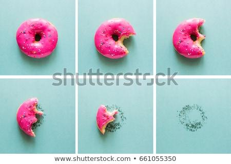 сладкие блюда продовольствие кофе фон Кубок Сток-фото © racoolstudio