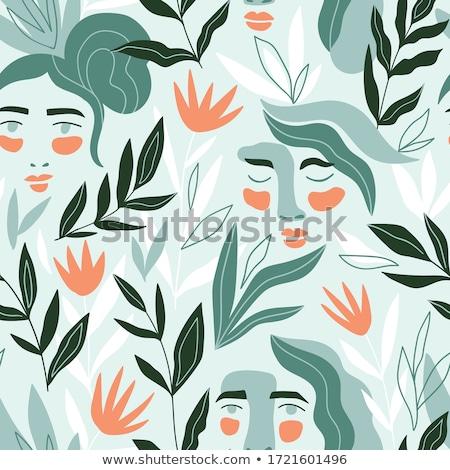 face on the foliage background Stock photo © ssuaphoto
