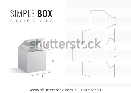 Cubos cuadro madera Cartoon ilustración Foto stock © derocz