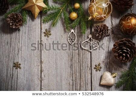 Christmas pijnboom houten boom hout Stockfoto © SArts