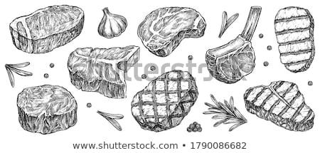 Pieces Of Raw Meat ストックフォト © studioworkstock