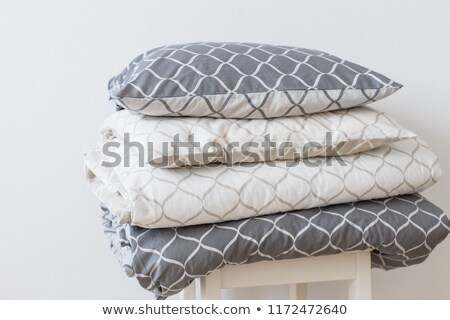 Pillow Stack set. Bed linen in white background Stock photo © popaukropa