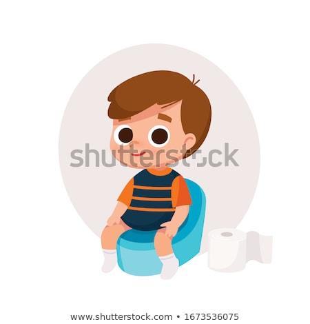 boy on the potty Stock photo © Traimak
