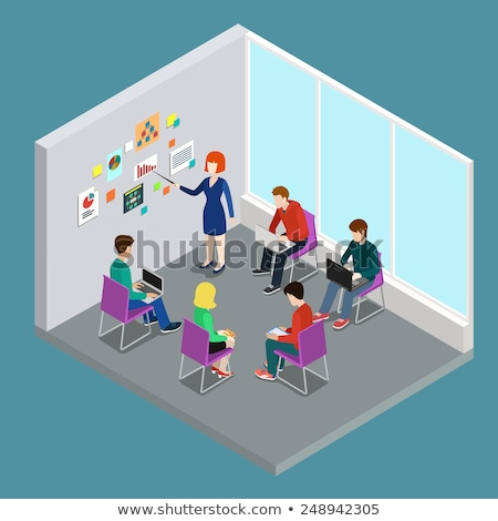 Coaching on Laptop in Meeting Room. 3D. Stock photo © tashatuvango