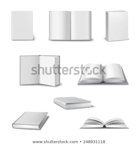 Set of closed books in hard cover Stock photo © orensila