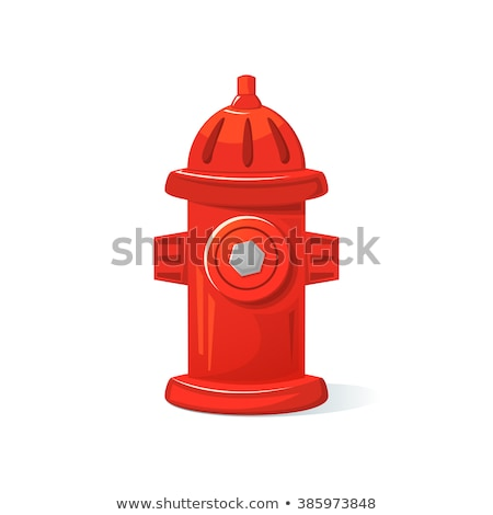 vector red hydrant stock photo © dashadima