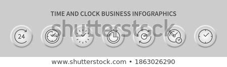 Dijital doğrusal simgeler şablonları web sitesi diyagram Stok fotoğraf © robuart