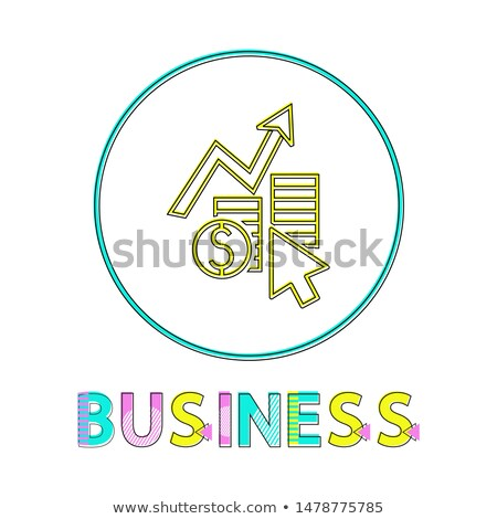 Business Income Stream Rising Outline Framed Icon Stock photo © robuart