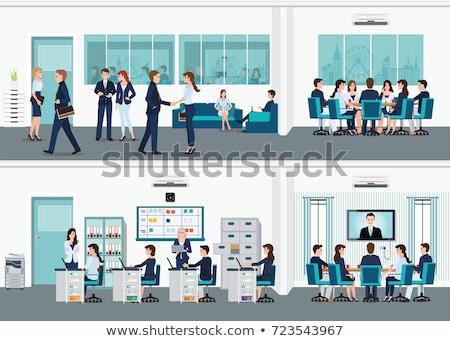 Biznesmenów korporacja ludzi biuro życia działalności Zdjęcia stock © MaryValery