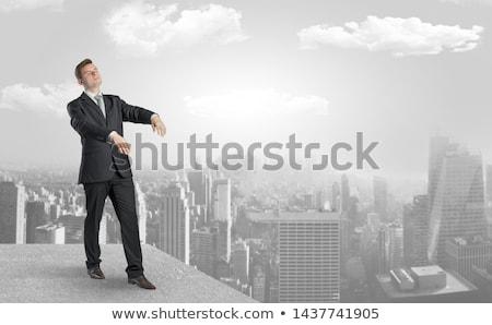 sem · dormir · empresário · cidade · relatório · sonho · jovem - foto stock © ra2studio