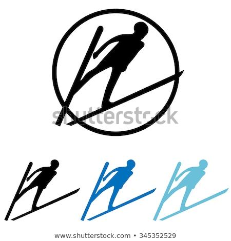 ski jump vector icon illustration stock photo © blaskorizov