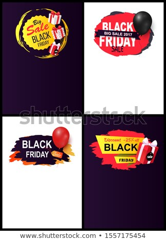 Black Friday Sale Tags, Set Site Typography Pages Stock photo © robuart