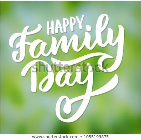 happy family poster and text vector illustration stock photo © robuart
