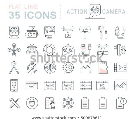 quadrocopter icons set Stock photo © netkov1
