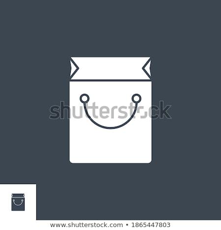 Shopping Bag related vector glyph icon. Stock photo © smoki