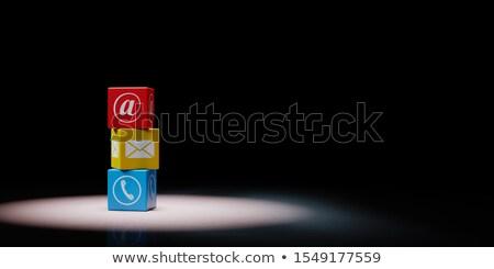 Set nero colorato Foto d'archivio © make