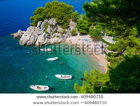 Beach in Brela, Croatia Stock photo © borisb17